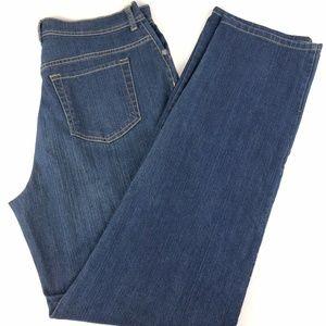 Gloria Vanderbilt High Waist Straight Jeans 12 L